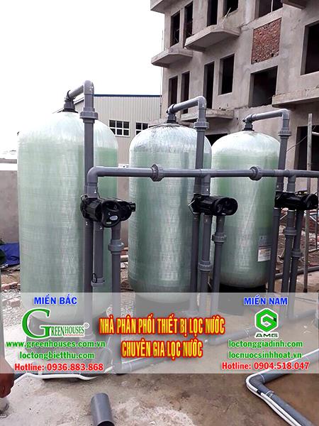 Hệ thống xử lý nước giếng khoan công suất 40m3/ ngày