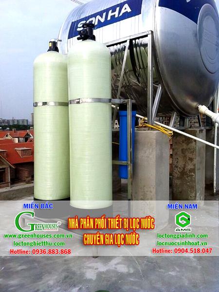 Hệ thống lọc tổng sinh hoạt từ nguồn nước giếng khoan