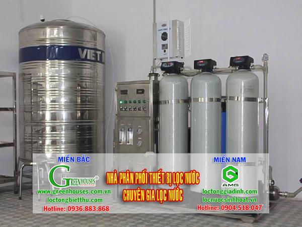 Dây chuyền lọc nước tinh khiết 1000 lít/h