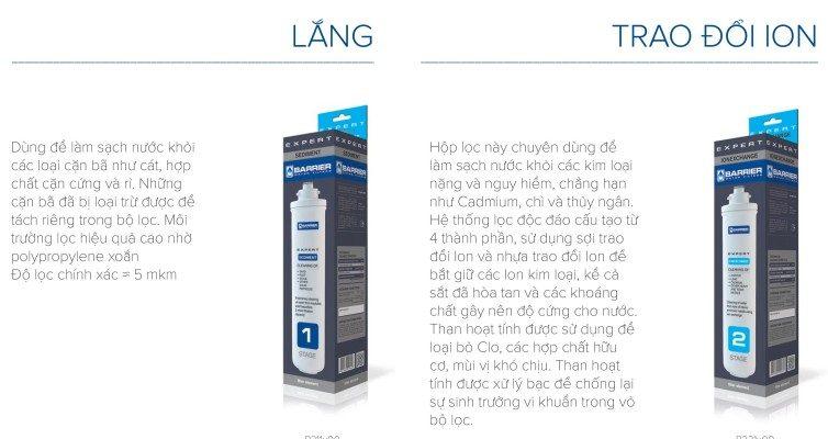 Cơ chế hoạt động của máy lọc nước nhập khẩuBARRIER EXPERT COMPLEX