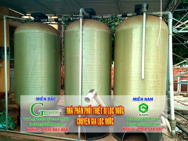 Bộ lọc nước giếng khoan công suất 30m3/ ngày