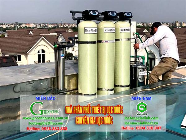 Hệ thống lọc tổng nước sinh hoạt đầu nguồn cho tòa nhà, biệt thự