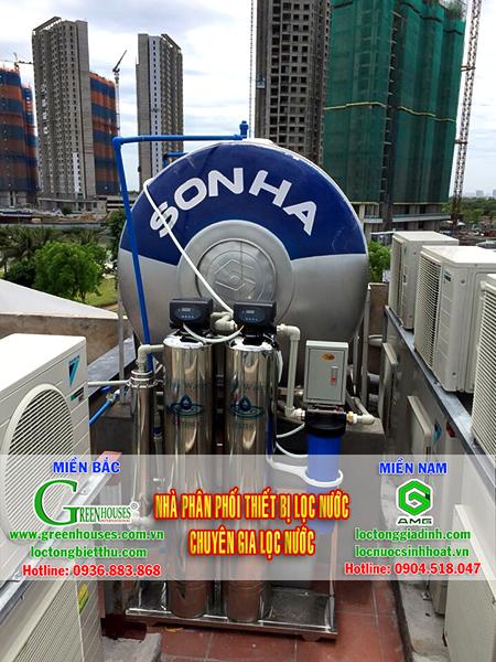Hệ thống xử lý nước giếng khoan 3 lõi lọc của GreenHouses