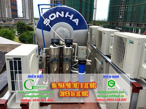 Lắp đặt hệ thống xử lý nước giếng khoan tại Thái Bình